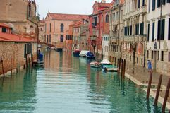Venice a canal after the rain Stock Images