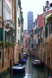 Venice - canal in the rain Royalty Free Stock Images