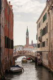 Venice canal scene in Italy Royalty Free Stock Photography