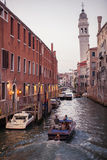 Venice canal scene in Italy Royalty Free Stock Photo