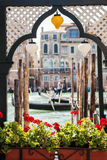 Venice canal scene in Italy Stock Photo