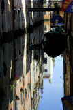 Venice - Canal Series. Classical Venice canal. Off the beaten track, calm, and lovely colourful reflections royalty free stock image