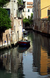Venice - Canal Series. One of the many quiet but pretty canals in Venice royalty free stock image