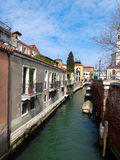 Venice canal. Small Venice canal and buildings Stock Photo