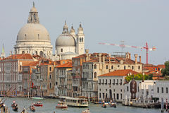 Venice Canal in summer with Gondola Royalty Free Stock Photo