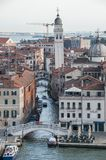 Venice Canal and Tower royalty free stock photo