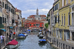 Venice canal. In Veneto, Italy Royalty Free Stock Images