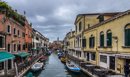 Venice canal view. Venice Italy canal view ancient buildings Royalty Free Stock Photo