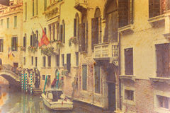 Venice canal in vintage tone Royalty Free Stock Images