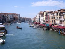 Venice Canale Grande with boat traffic and architecture. Venice Canale Grande with boats, gondola and beautiful architecture stock images