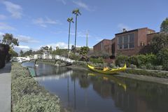 Venice canals in california Stock Photography