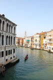 Venice. Canals and Gondola. European City stock image