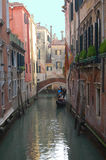 Venice Canals and Gondolas. European City stock images