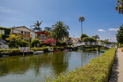 The Venice Canals. Houses along the Venice Canals, in Venice Beach, Los Angeles, California Stock Photography