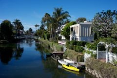 Venice canals , los angeles Royalty Free Stock Photos