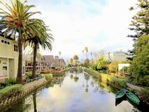 Venice Canals, Los Angeles, California Royalty Free Stock Photos