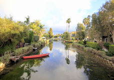 Venice Canals, Los Angeles, California Royalty Free Stock Images