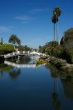 Venice canals reflection, Los angeles Stock Image