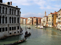 Venice canals in summer sunny day. Royalty Free Stock Photo