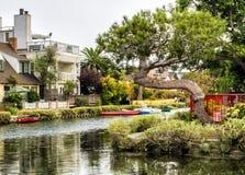 Venice Canals on the 13th August, 2017 - Venice Beach, Los Angeles, California Stock Photos