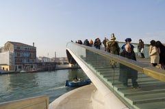 Venice carnival. 2009. Calatrava bridge Stock Image