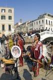 Venice carnival. February 2009. International event. Street musicians Stock Photo