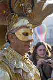 Venice carnival. February 20009. Great event. Masked man Royalty Free Stock Photos