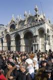Venice carnival. February 2009. San Marco church Stock Photo