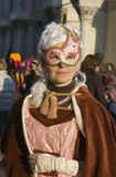 Venice carnival. February 2009. Great event. Masked woman Stock Photos