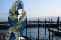 Venice Carnival. A masked woman during the Venice Carnival royalty free stock photo