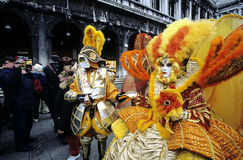 Venice Carnival. Public participation in the Venice Carnival parade Royalty Free Stock Images