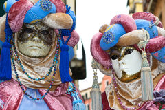 Venice carnival 2011 - masks Stock Photos