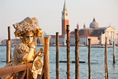 Venice Carnival. Carnival fantasy in the street of venice Stock Image