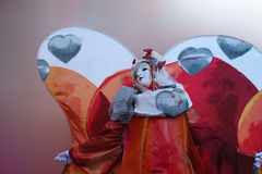 Venice carnival. Beautiful butterfly mask at the Venice Carnival Stock Image