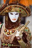 Venice carnival costume Stock Photos