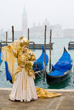 Venice carnival costume Stock Photography
