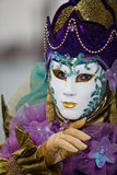 Venice carnival costume Stock Photos