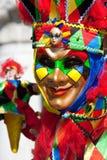 Venice carnival costume. Joker in costume at the Venice Carnival Royalty Free Stock Photo