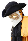 Venice carnival costume of an ancientVenetian nobleman Royalty Free Stock Photos