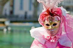 Venice carnival costume mask Stock Images