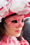 Venice carnival costume mask Stock Photos