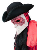 Venice carnival costume of nobleman with decorated mask Stock Photography
