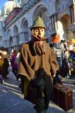 Venice carnival costume Stock Image