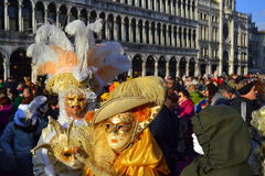 Venice  Carnival costumes Royalty Free Stock Photos