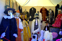 Venice carnival costumes stand Royalty Free Stock Photos