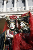 Venice carnival couple Stock Images