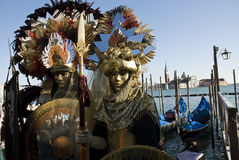 Venice Carnival Couples Stock Images