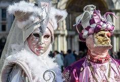 Venice Carnival Couples Royalty Free Stock Images