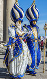 Venice Carnival Couples Stock Image