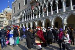 Venice carnival day scene Stock Images